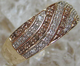 Diamant Schmuck 9kt 375 Gold Ring Damen Goldringe Brillant Ring Diamant Ring