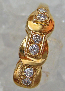 Goldringe Brillant Schmuck 14kt 585 Gold Ring mit Diamant Ring mit Brillant Ring