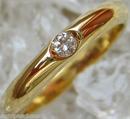Goldringe 14kt 585 Gold Ring mit Brillant Ring Brillant Schmuck Solitär Ring