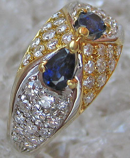 Brillant Ring aus Gold Ring mit Brillanten Tansanit Diamant Ring Brilliant Ring
