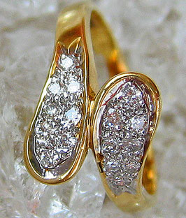 Brillant Schmuck Goldringe 14kt 585 Gold Ring Diamant Brillant Ring Damenring