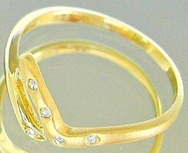 Goldringe Brillantringe 14kt 585 Gold Ring Diamant Schmuck Brillant Ring Damen