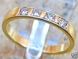 Brillantringe Goldringe 14kt 585 Gold Ring mit Diamant Schmuck Brillant Ring