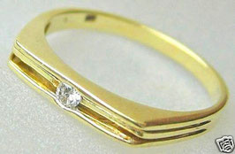 Goldringe 14k 585 Gold Ring mit Brillant Ring antik Solitär Ring Diamant Schmuck