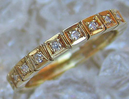 Goldringe Brillantringe 14kt 585 Gold Ring Diamant Schmuck Brillant Ring Memory
