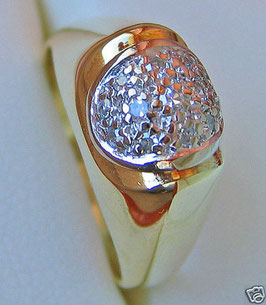 Diamantringe Goldringe 14kt 585 Gold Ring Brillant Ring mit Diamant Schmuck