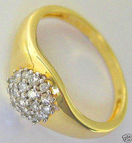 Goldringe Brillantringe 14kt 585 Gold Ring Brillant Schmuck mit Diamant Ring