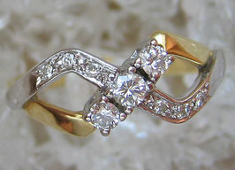 Diamantringe Goldringe 14kt 585 Gold Ring mit Diamant Ring mit Brillant Ring