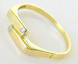 Goldringe 14kt 585 Gold Ring mit Diamant Ring Diamanten Schmuck Brillant Ring