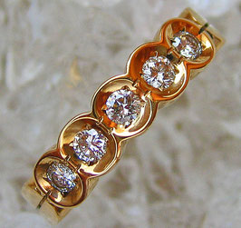Goldringe Brillantringe 14kt 585 Gold Ring Brillant Ring mit Diamant Brillanten