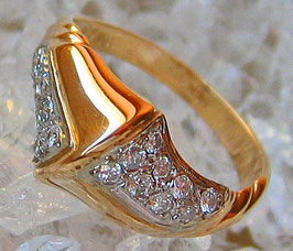 Goldringe Brillant Schmuck 14kt 585 Gold Ring mit Brillant Ring Diamant Ring