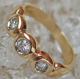 Brillantringe Goldringe 14kt 585 Gold Ring Damenring Brillant Diamant Schmuck