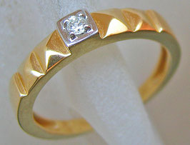 Goldringe 14kt 585 Gold Ring mit Diamant Brillant Schmuck mit Brillant Ring