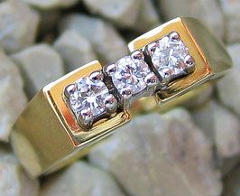 Goldringe 14kt 585 Gold Ring Brillant Ring Diamant Schmuck mit Brillant Schmuck