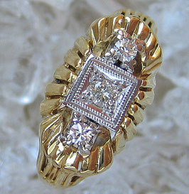 Goldringe Brillantringe 14kt 585 Gold Ring mit Diamant Schmuck Brillant Ring