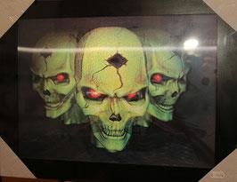 "3D Wechselbild ""Skulls"""