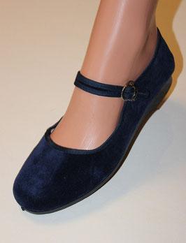Ballerinas, Samtschuhe Blau