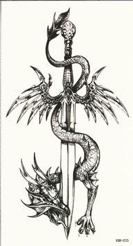 Drache mit Schwert