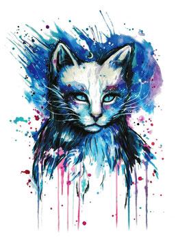 Katze Aquarell