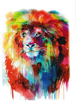 Löwe Aquarell