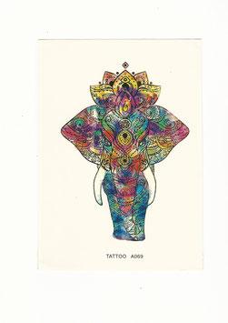 Elefant Henna bunt