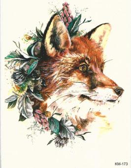 Fuchs mit Blumen