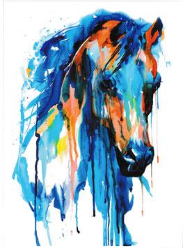 Pferdekopf Aquarell