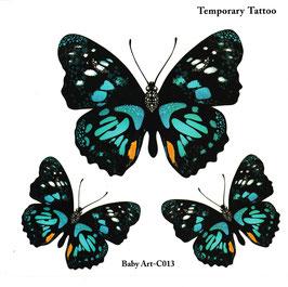Schmetterlinge türkis