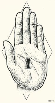 Hand mit Schlüsselloch