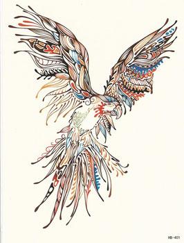 Papagei gezeichnet