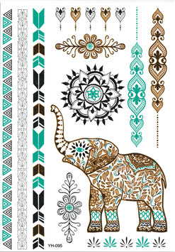 Flash Henna Style Elefant