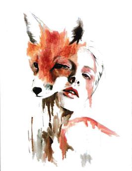 Fuchs mit Mädchen