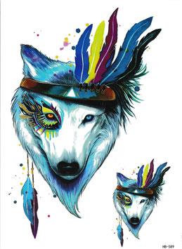 Wolf mit Federn