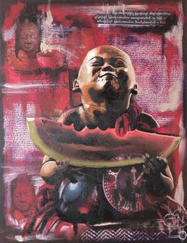 Petit moine à la pastèque