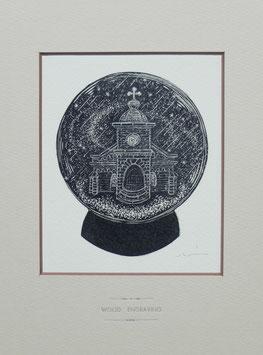 商品名 「頭ヶ島教会」黒インクバージョン