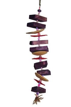 Wooden rod (bois, sisal et rafia)