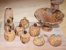 Gedrechselte Holzdosen