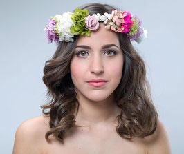 Corona de flores Hortensia