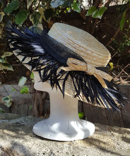 Canotier plumas