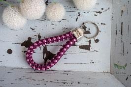 Schlüsselanhänger Segeltau / dunkles lila und rosa / Lieblingsplatz