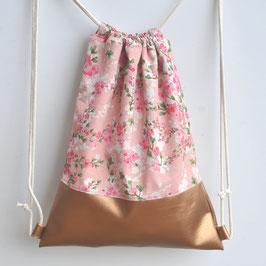 ELLA  - Hippster / Gymbag  Kirschblüte / rosa / bronze kupfer