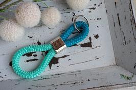 Schlüsselanhänger Segeltau /türkis und mint / Meer geht immer