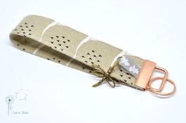 Schlüsselanhänger Beige Libelle