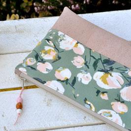 Kramtasche / Frühling / Blumen / grün & rosa