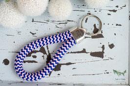 Schlüsselanhänger Segeltau / rosa und blau / Zuhause ist wo du bist