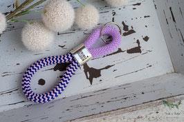 Schlüsselanhänger Segeltau / dunkelblau, rosa und lavendel / Lieblingskollegin
