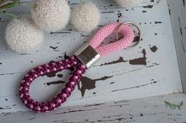 Schlüsselanhänger Segeltau / lila und rosa / beste Mama auf der Welt