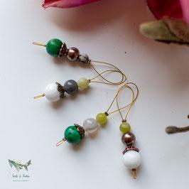 Pani *~* Maschenmarkierer ~  grün, weiß & bronze