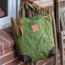 bi_Bag Shopper / Umhängetasche / mossgrün
