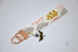 """Schlüsselanhänger """"Blätter & Libelle"""""""